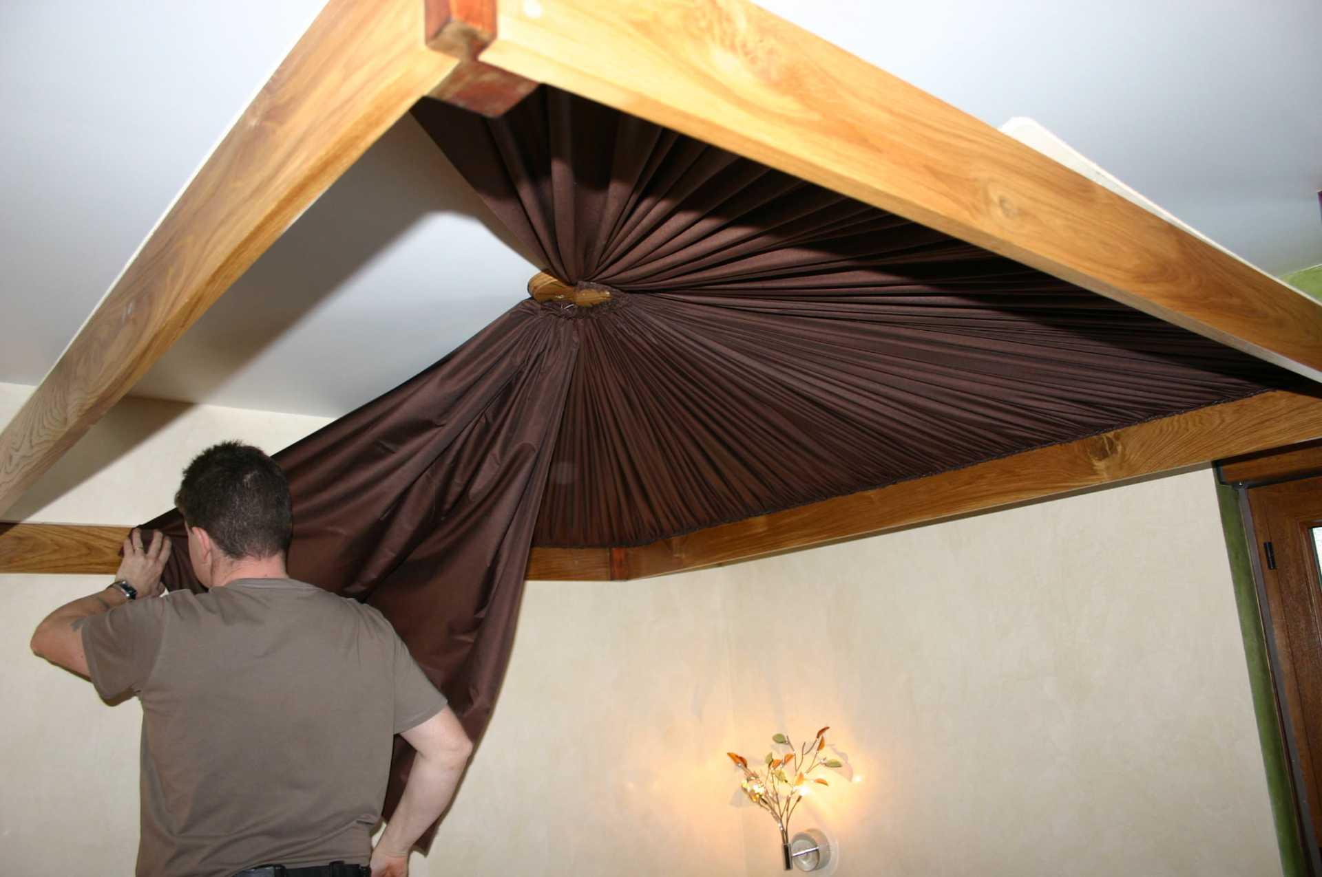 Plafond plissé soleil